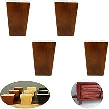 GWFVA massief houten meubelpoten, kasten been, tafelvoet, bank voeten voeten,4 Pack, voor bank TV bureau nachtkastje, met ...