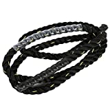 Haloday Adjustable Polyester Durable Adult Fitness Heavy Jumping Skipping Battle Ropes Training Gym Exercise fitness equipment battle ropes for exercises battle ropes for exercises battle ropes for exercises battle ropes for exercises battle ropes for exercises battle ropes for exercises (1'' x 10ft)