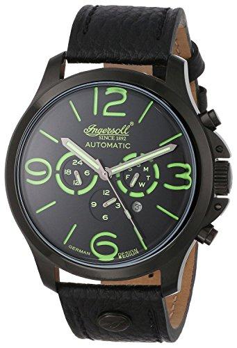 Ingersoll Herren Armbanduhr Totem Limited Edition Schwarz IN1503BKGR