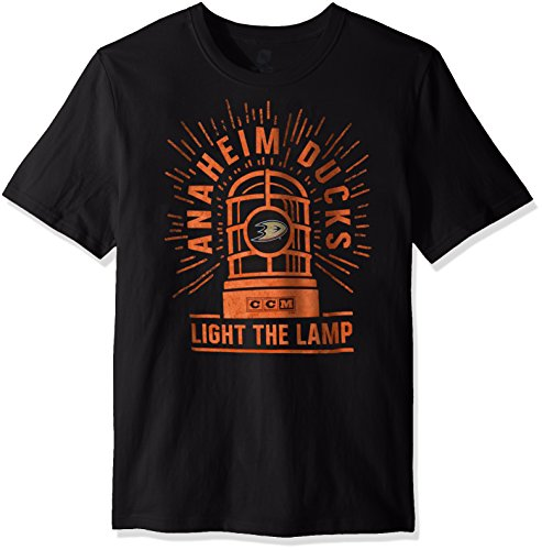 Reebok Light The Lamp S/S - Camiseta cepillada, Color Negro