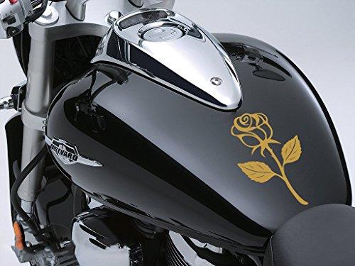 Rose Sticker Moto Réservoir à carburant voiture en 100 mm x 170 mm – Or Rose