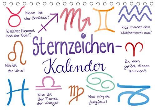 Sternzeichen-Kalender (Tischkalender 2021 DIN A5 quer)