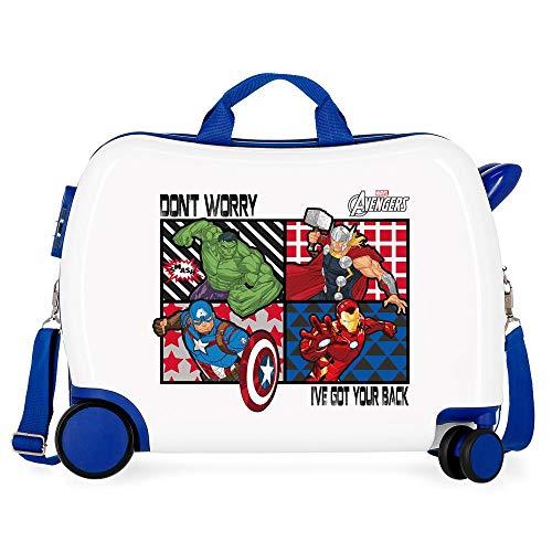 Marvel Avengers All Avengers Multicoloured Kids Rolling Suitcase 50 x 38 x 20 cm Rigid ABS Combination Lock 34 Litre 2.1 kg 4 Wheels Hand Luggage