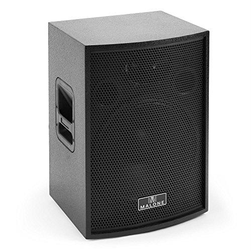 Malone BB6-15A-B Blackbox - aktive PA Box, Satelliten-Lautsprecher, PA-Lautsprecher, 600 Watt Peak-Leistung, 15\'\'-Subwoofer, 60 Hz - 20 kHz Frequenz, Bassreflex-Gehäuse, schwarz