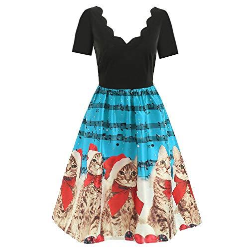 TOFOTL Weihnachten Abendkleider knielange Abendkleider blaues Kleid festliches Kleid Abendkleider...