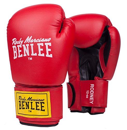 BENLEE Rocky Marciano Boxhandschuhe Pu Training Gloves Rodney, Rot/Schwarz, 10