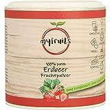 myfruits Erdbeerpulver, 100 % Erdbeeren ohne Zusätze, gefriergetrocknet. Fruchtpulver für Smoothie, Shakes & Joghurt. (50g)