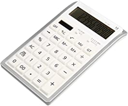 $38 » LCLLXB Office Calculators Desktop Calculator Basic Calculator, Battery Dual Power Office Calculator with LCD Display and Large Buttons 12 Digits Suitable for Desktop and Mobile Use