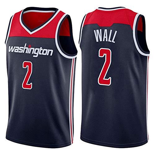 DXG NBA Washington Wizards #2 John Wall Camiseta Uniforme Uniforme Transpirable Secado rápido Sin Mangas Sport Mesh Vest Top,Azul,M