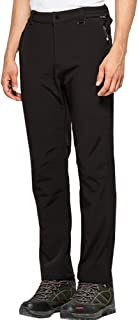 Jessie Kidden Waterproof Pants Mens, Fleece Lined Hiking Climbing Motorcycle Ski Snow Insulated Soft Shell Pants with Belt