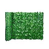 Foglio Giardino Recinto Pannelli Foglia Artificiale Schermo Hedge Recinto Privacy Rotolo Parete Abbellimento Esterno Cortile Balcone Fence 0.5x1m