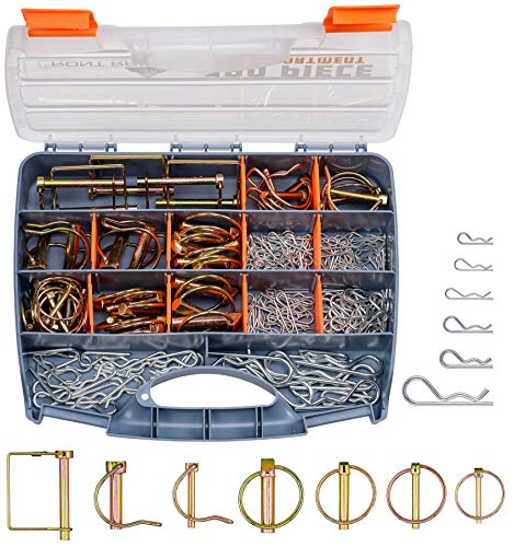 Front Range - 190Pcs Heavy Duty Hitch Linch and PTO Pins for Trailers Tractors Trucks Towing Mowing