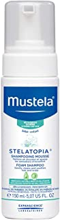 Mustela Stelatopia Foam Shampoo, Baby Shampoo, for Eczema-Prone Skin, with Natural Avocado Perseose, Fragrance-Free, 5.07 Ounce
