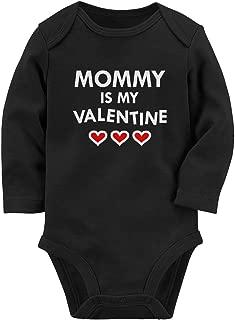 Mommy is My Valentine Mom & Infant Baby Long Sleeve Bodysuit