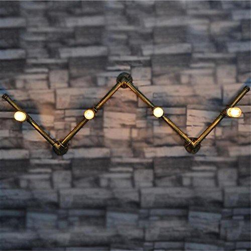 Atmko®Applique Murale Vintage Industriel Appliques Applique Mur Applique Chambre Couloir Couloir Bar Cafe Escalier Long Fer Forgé Tuyaux d'eau Applique