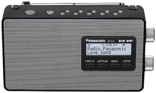 Panasonic RF-D10EG-K Digitalradio (DAB+/UKW Tuner, Netz- und Batteriebetrieb) schwarz