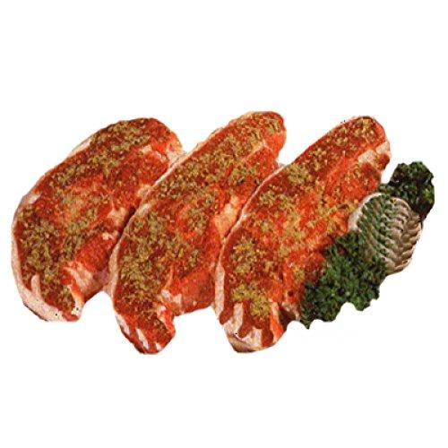 Lammkotelett, Lammrücken in Scheiben mariniert mit Knochen als Kotelett portioniert, 600 g