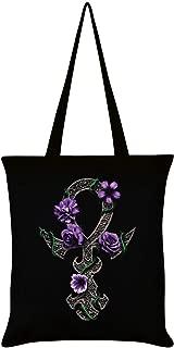 Grindstore Requiem Collective Floral Ankh Tote Bag