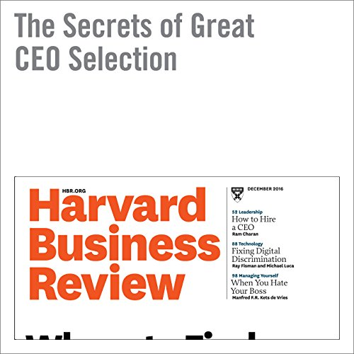 The Secrets of Great CEO Selection cover art