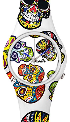 DOODLE Reloj de pulsera para SIE & IHN Ø 39 mm | Silicona > Calavera blanca > DOCA002