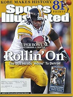 Sports Illustrated January 30, 2006 Jerome Bettis/Pittsbugh Steelers Cover, Super Bowl XL, Lofa Tatupu/Seattle Seahawks, Kobe Bryant Scores 81/LA Lakers, Kevin Pittsnogle/West Virginia