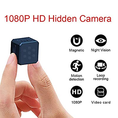 Mini Spy Hidden Camera, 1080P Portable Small HD Wireless Home Security Surveillance Cameras, Covert Tiny Nanny Cam with Night Vision and Motion Detection,Compact Indoor/Outdoor Camcorder