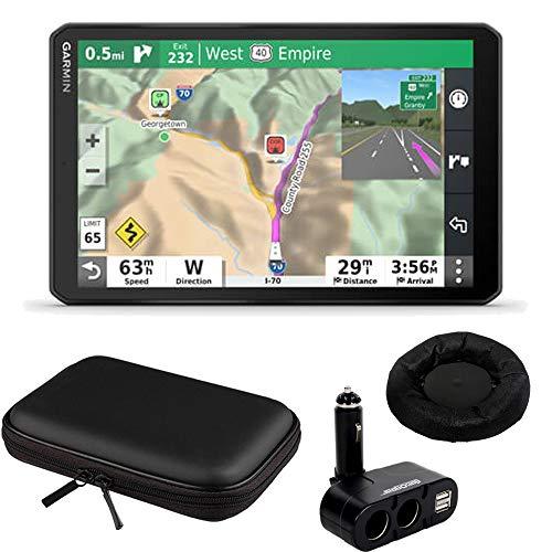 "Garmin 8"" RV GPS Navigator (010-02425-00) w/Hard Shell Case and Dash-Mount Bundle"