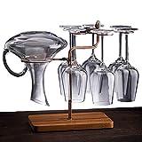 NILICAN Soporte de copa de vino Estantes de vasijas de cocina Bar decoración de mesa de metal estante de almacenamiento de cubiertos