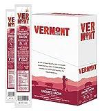 Vermont Smoke & Cure Meat Sticks - Antibiotic Free Pork Sticks - Gluten-Free Snack - Uncured Bacon -1oz Stick - 24 Count