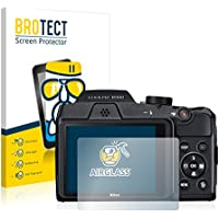 BROTECT Protector Pantalla Cristal Compatible con Nikon Coolpix B500 Protector Pantalla Vidrio Dureza 9H AirGlass