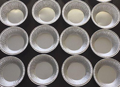 "Silver Aluminum Foil Tart Pan 3"" (Pack of 100) Disposable Mini Pie Tin"