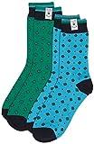 Pepe Jeans Herren Socken Leon 2 Pack, Mehrfarbig (Broadway Blue/Emerald Green 622), One size (Herstellergröße:9 to 11)