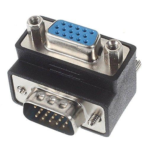 『VGAオス-VGAメス 変換アダプター L字型 D-sub15ピン オス・メス』の1枚目の画像