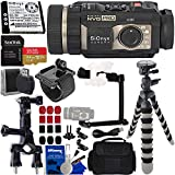 SiOnyx Aurora PRO Night Vision Camera & Basic Action Bundle - Includes: SanDisk Extreme 64GB microSDXC Memory Card with Adapter, Multi-Function Grip/Arm/Tripod/Selfie Stick, Pipe Mount, & More