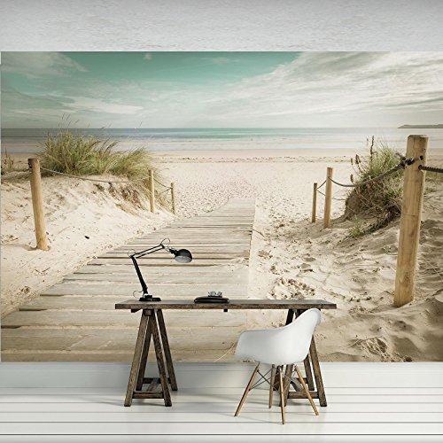 FORWALL Fototapete Vlies - Tapete Moderne Wanddeko Strand VEXXL (312cm. x 219cm.) AMF11597VEXXL Wandtapete Design Tapete Wohnzimmer Schlafzimmer