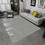 RUGMYW Alfombra Outlet Patrón Abstracto Cian Blanco Alfombra Dormitorio Infantil 45X75cm
