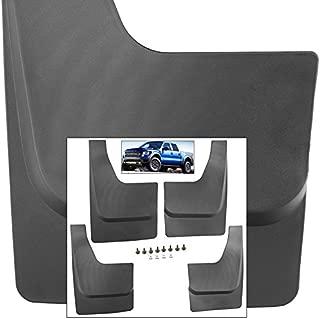 Front Rear Mud Flaps Splash Guards for 2010-2014 Ford F150 Raptor SVT Mudguards