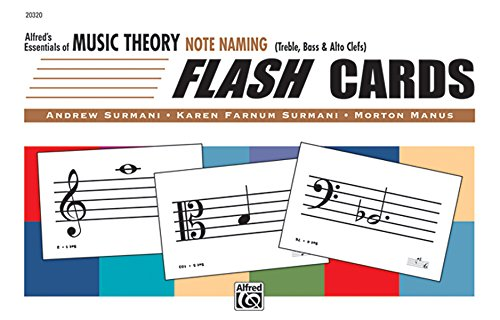Alfred's Essentials of Music Theory: Note Naming Flash Cards