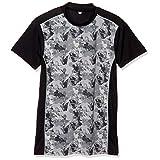 [ケイパ] Tシャツ 吸汗速乾 UVカット 接触冷感 軽量 エステルベア天竺 半袖 ハイネック メンズ ダークグレー 日本 3L (日本サイズ3L相当)