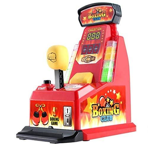 ミニパンチングゲーム機 指パンチゲーム パンチングマシン デコピンボクシングゲーム パーティーゲーム LEDレベルバー Wスコアカウンター付き 点数と音が出る おもちゃ パーティーグッズ