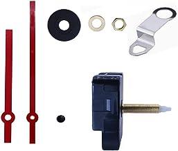 JJDD Long Shaft Hook Clock Movement Metal Clock Needle Kit,31MM Long DIY Repair Quartz Wall Clock Movement,8 PCS