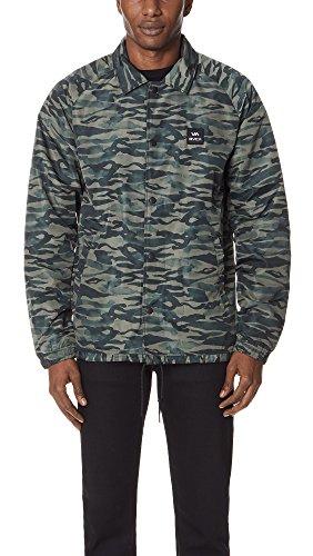 RVCA Men's Va All The Way Coaches Jacket, Camo, M