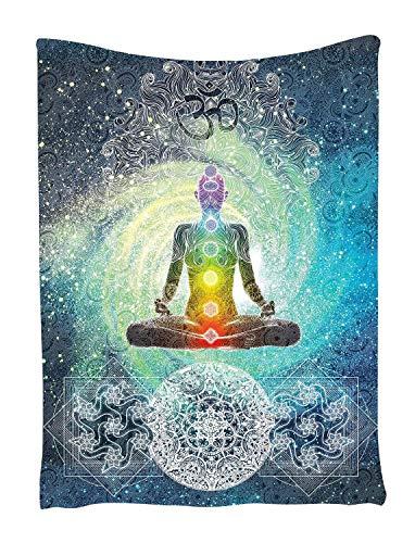 Tapisserie Wandbehang Wandteppiche Mandala Tuch Wandtuch Gobelin Tapestry Hippie-/ Boho Stil mit Sign Chakra Kunstdruck als Dekotuch /Tagesdecke
