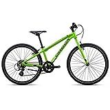 Orbea MX 24speed 7velocidades para bicicleta MTB niños Cilindro de aluminio juvenil kids Mountain Bike Shimano, i032, color verde, tamaño talla única