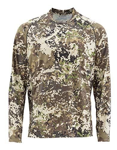 Simms Solarflex Fishing Shirt, UPF 50+ Sun Protection, River Camo, Medium