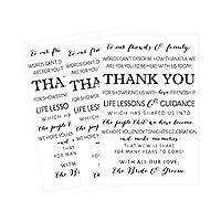 50ウェディングThank You Place Cards、リハーサルディナーThank Youテーブルサイン、メニューPlace Settingカードノート、配置Thank You Note Favors for Family &ゲスト