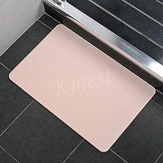 Large Super Dry Diatom Bathroom Bath Mats Anti-Slip Foot Shower Bathroom Bedroom Floor Pad Mat Rugs 60x39cm AU Present (Pink)
