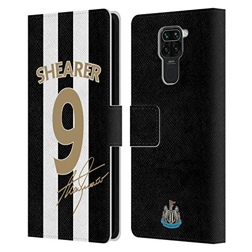 Head Case Designs Officially Licensed Newcastle United FC NUFC Alan Shearer Signed Gold Jersey Retro Badge Collection Leather Book Wallet Case Cover Compatible with Redmi Note 9 / Redmi 10X 4G