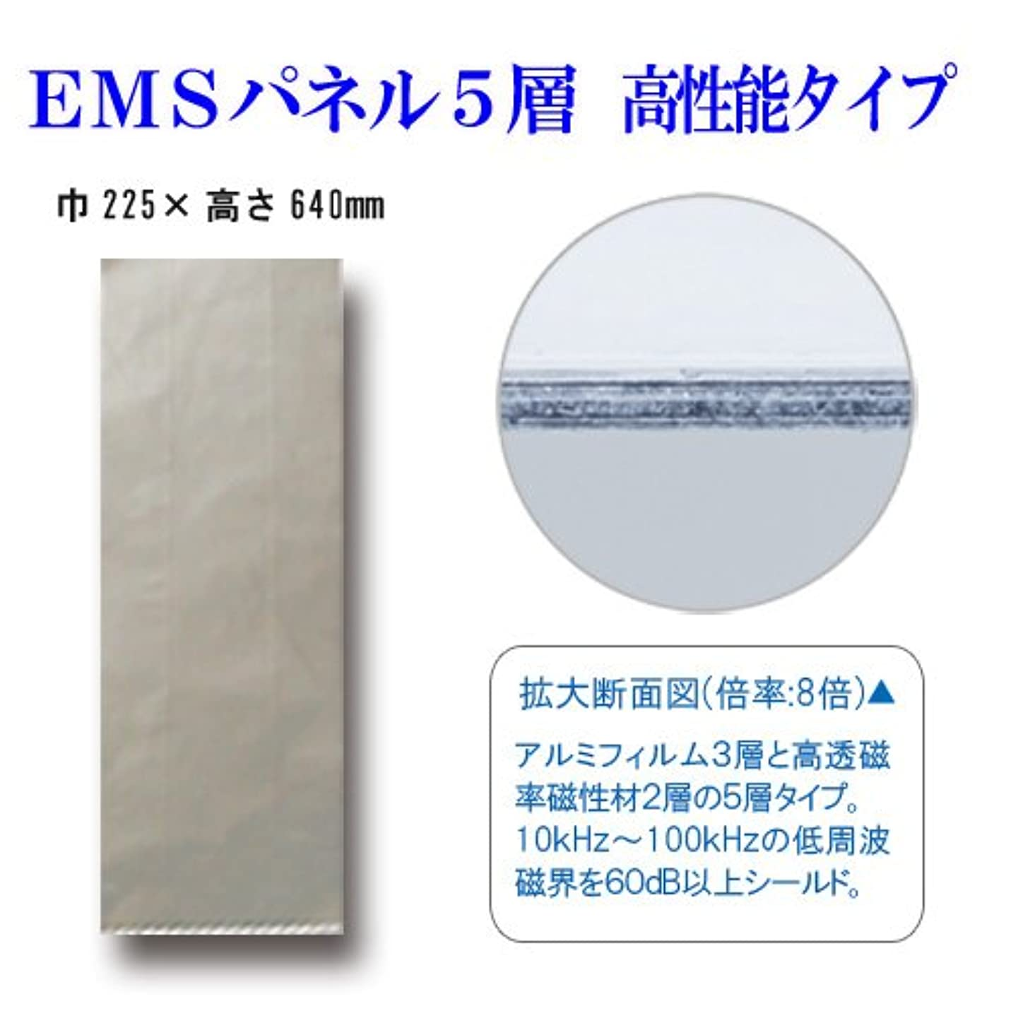 コンベンション警察発揮するEMSパネル5層-高性能タイプ(低周波磁界対策)225×640mm