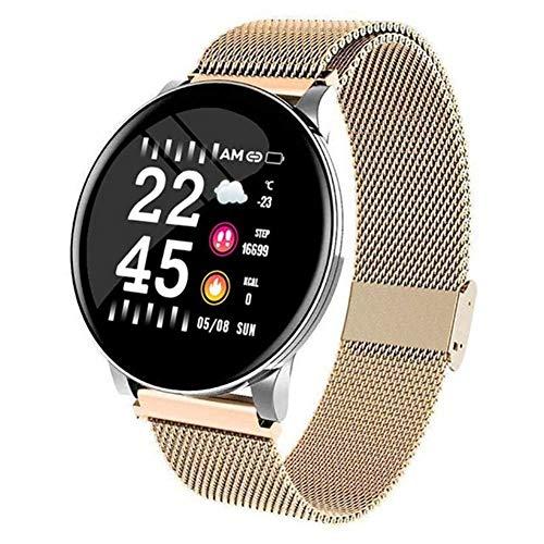 Exquisito, hermoso, decente, novedoso y único. Relojes deportivos inteligentes, relojes inteligentes con pulseras de Bluetooth redondas, relojes impermeables para hombres inteligentes y pulseras de pu